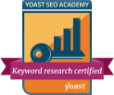 Keyword research certified by Yoast